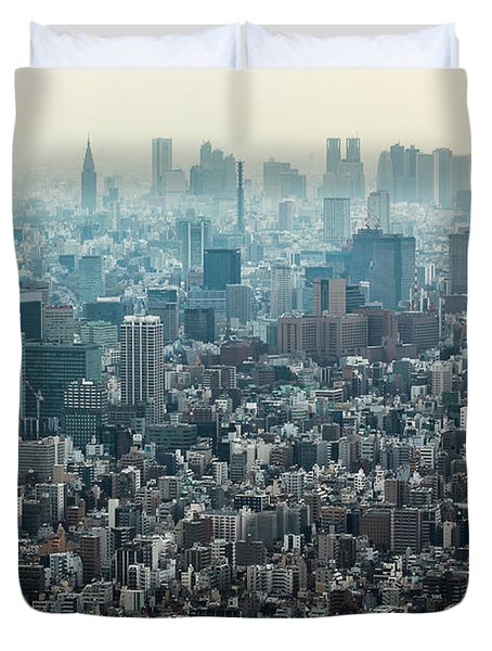 The Great Tokyo Duvet Cover by Peteris Vaivars