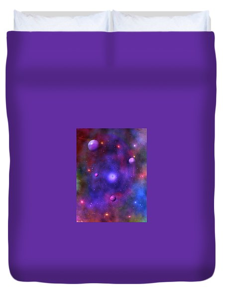 Duvet Cover featuring the digital art The Great Unknown by Bernd Hau