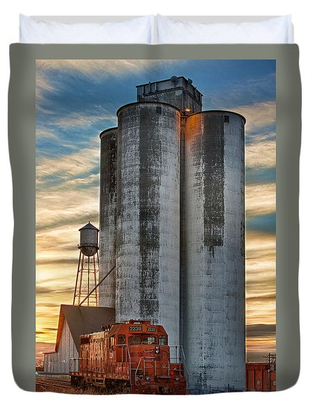 The Great Western Sugar Mill Longmont Colorado Duvet Cover