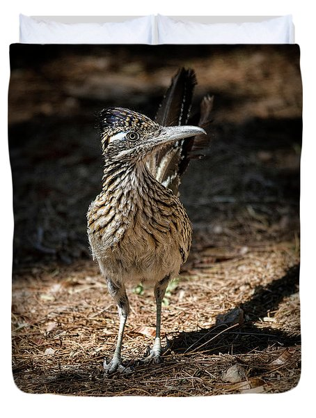 The Greater Roadrunner Walk  Duvet Cover