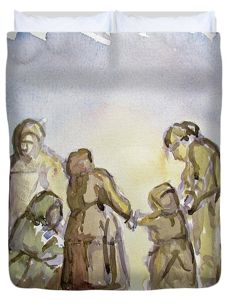 The Greatest Ever Drawing Duvet Cover