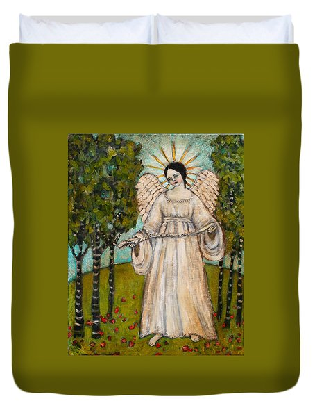 The Greatest Of These Is Love Duvet Cover by Jane Spakowsky