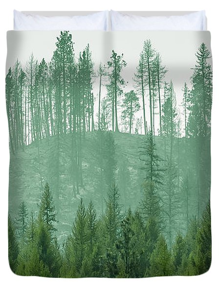 The Green And The Not So Green Duvet Cover