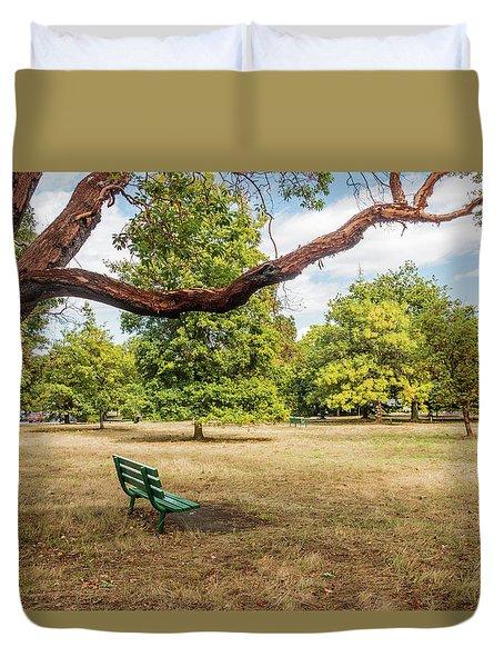 The Green Bench Duvet Cover