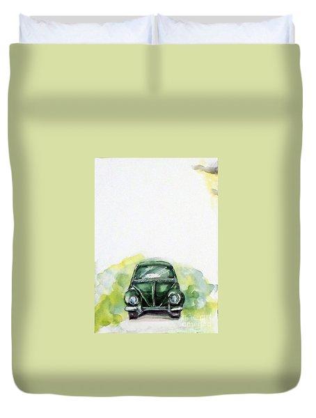 The Green Car Duvet Cover
