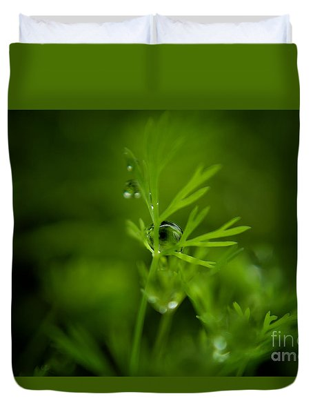 The Green Drop Duvet Cover