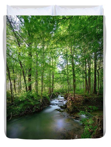 The Green Forest Duvet Cover