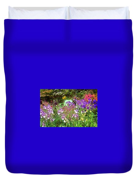 Duvet Cover featuring the photograph Hiding In The Garden by Thom Zehrfeld