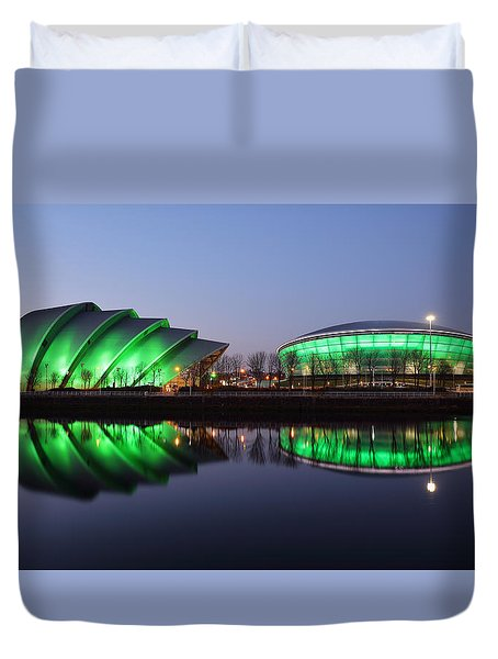 Duvet Cover featuring the photograph The Green Hour by Grant Glendinning