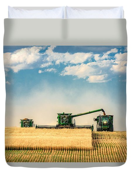 The Green Machines Duvet Cover