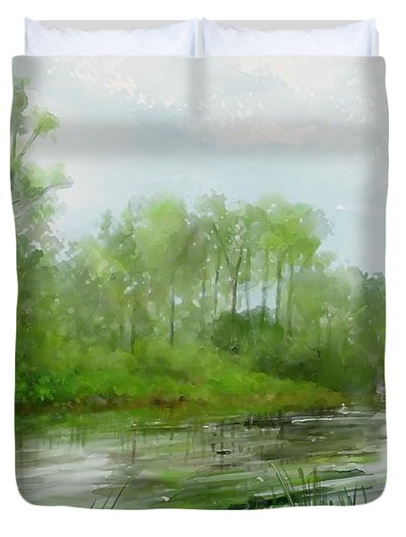 The Green Magic Of Ordinary Days Duvet Cover