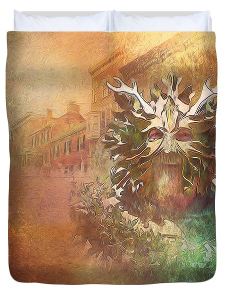 The Green Man Cometh Duvet Cover