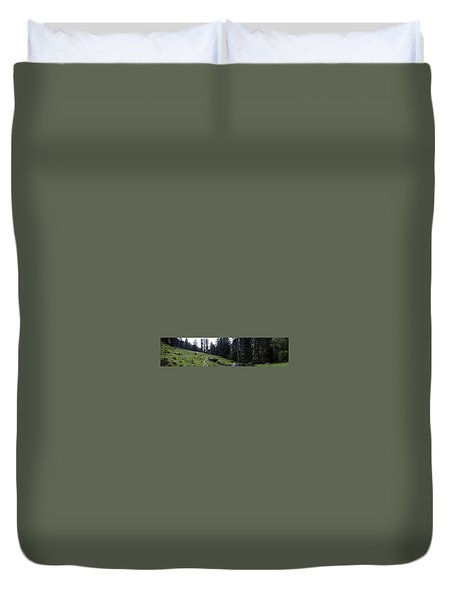 The Green Panorama Duvet Cover