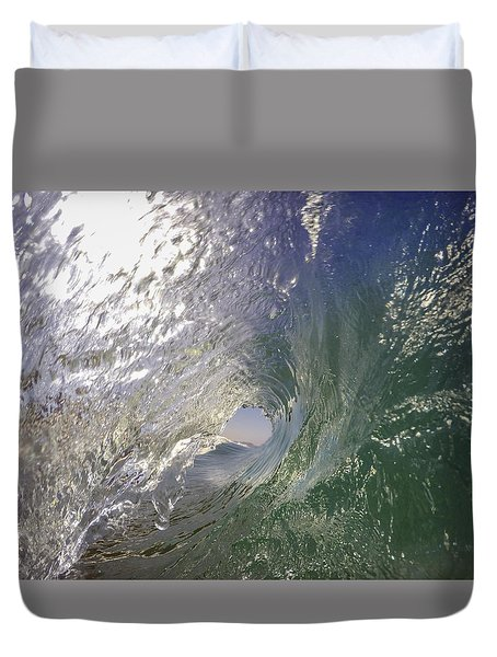 Duvet Cover featuring the photograph The Green Room by Sean Foster