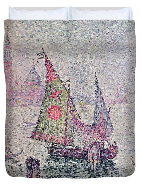 The Green Sail Duvet Cover by Paul Signac