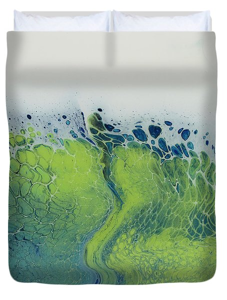 The Green Tides Duvet Cover