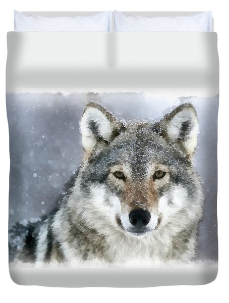 The Grey Wolf Duvet Cover