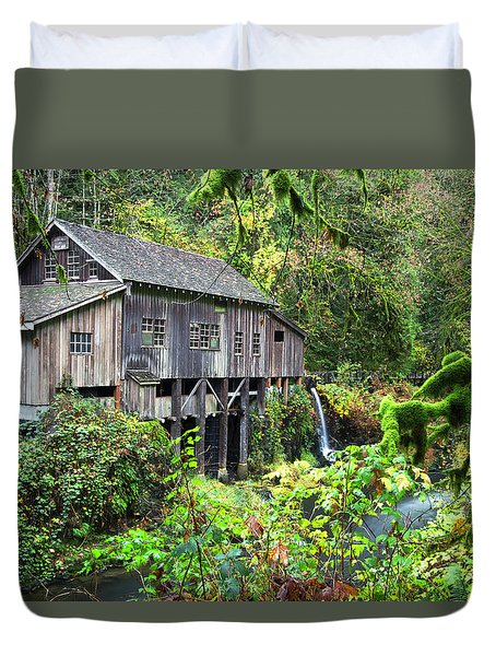 The Grist Mill, Amboy Washington Duvet Cover