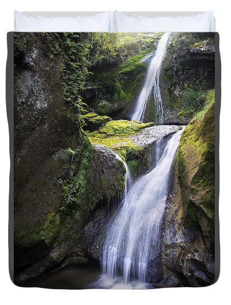 The Grotto Waterfalls Duvet Cover by Yuri Santin