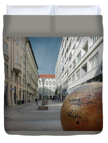 The Grounded Sun Zagreb Duvet Cover by Steven Richman
