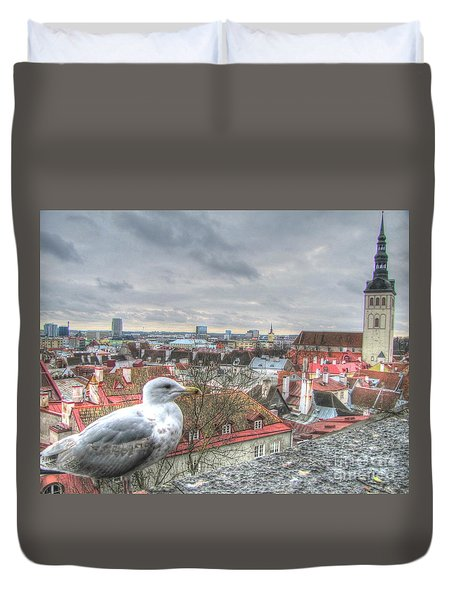 The Guard Of Tallinn Duvet Cover