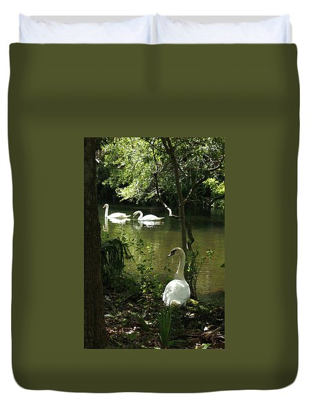 The Guard Swan Duvet Cover