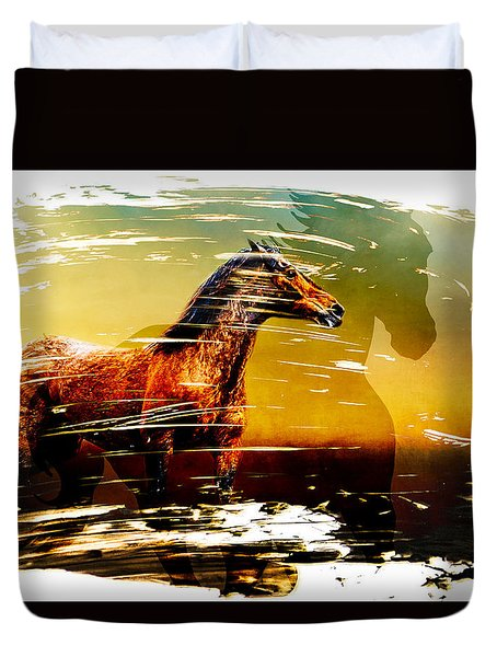 The Guardian Duvet Cover by Eleanor Abramson