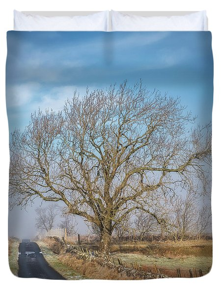 Duvet Cover featuring the photograph The Guardian by Jeremy Lavender Photography