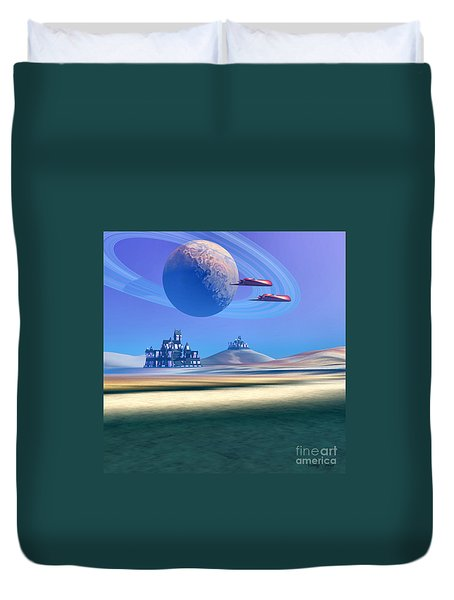 The Guardians Duvet Cover by Corey Ford