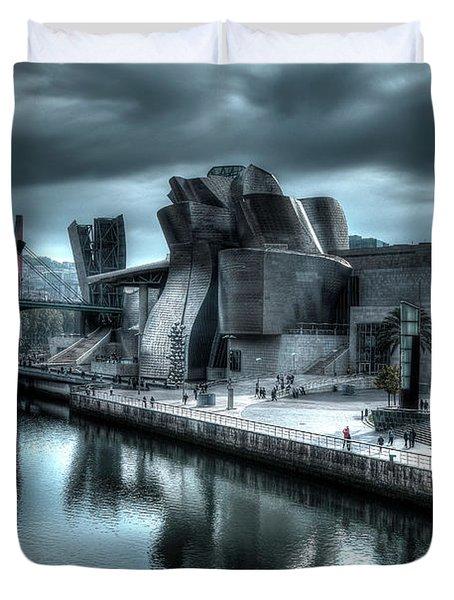 The Guggenheim Museum Bilbao Surreal Duvet Cover