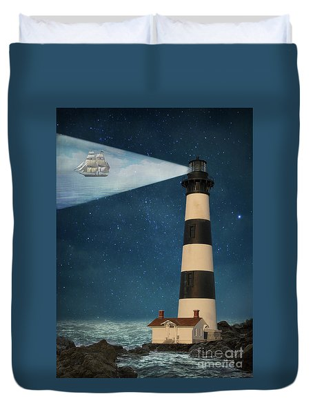 Duvet Cover featuring the photograph The Guiding Light by Juli Scalzi