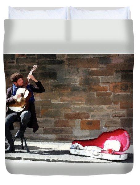 The Guitarist Duvet Cover by David Dehner