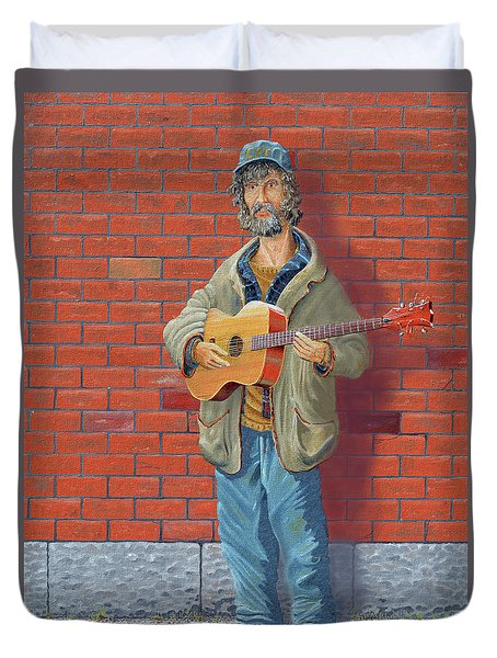 The Guitarist Duvet Cover