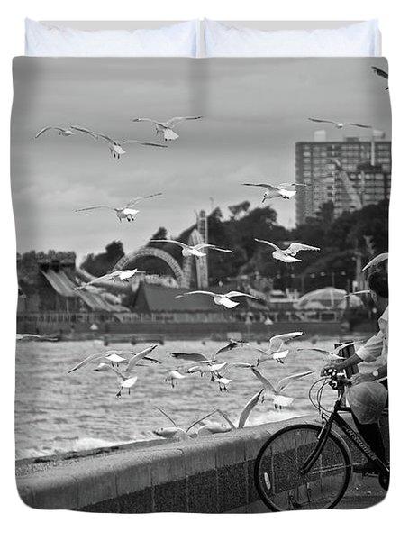 The Gull Man Duvet Cover