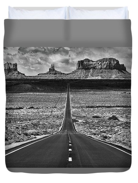Duvet Cover featuring the photograph The Gump Stops Here by Darren White