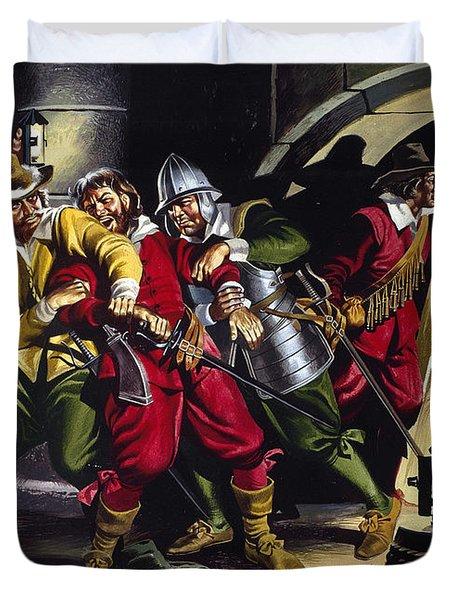 The Gunpowder Plot Duvet Cover by Ron Embleton