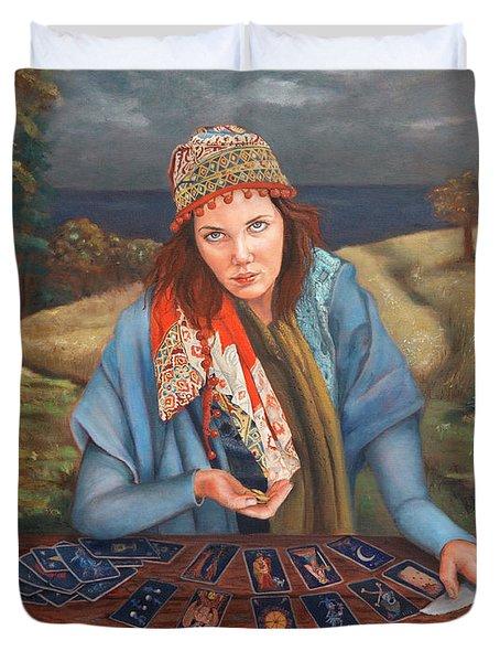 The Gypsy Fortune Teller Duvet Cover