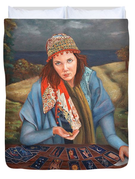 The Gypsy Fortune Teller Duvet Cover