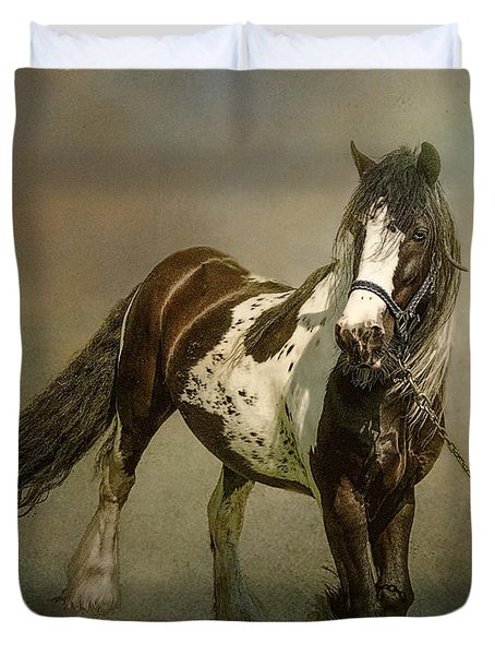 Duvet Cover featuring the photograph The Gypsy's Horse by Brian Tarr