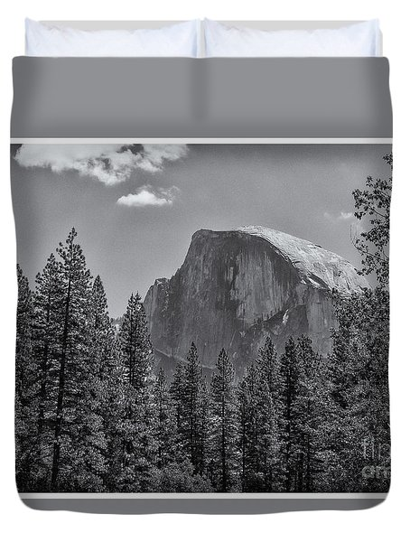 The Half Dome Of Yosemite Duvet Cover