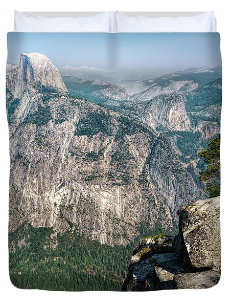 The Half Dome Yosemite Np Duvet Cover