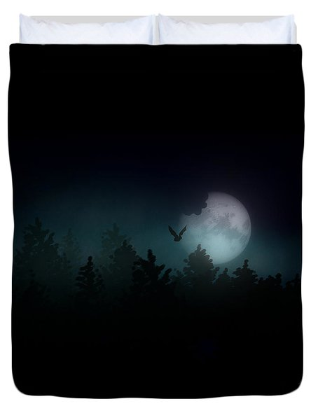 The Hallowed Moon Duvet Cover