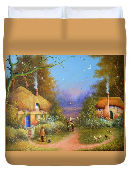 The Hamlet Of Gnarl Mid Summers Eve Duvet Cover