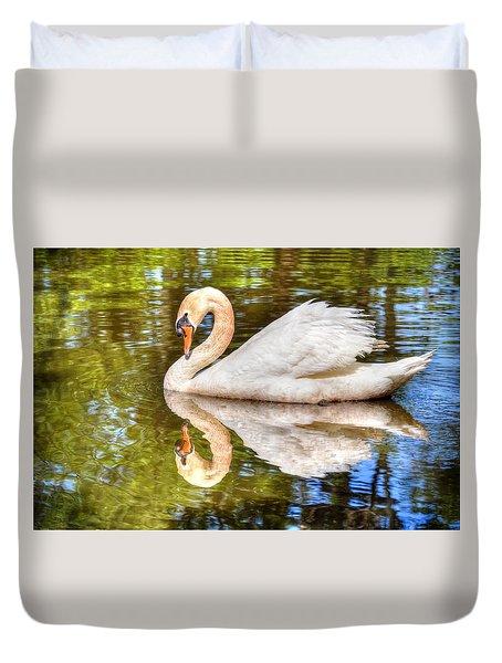 The Hammy Swan Duvet Cover