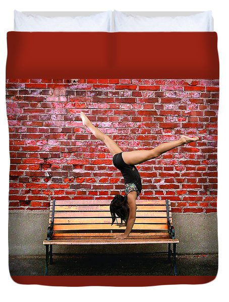 The Handstand Duvet Cover