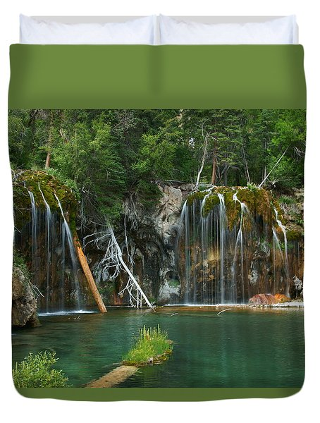 The Hanging Lake Duvet Cover