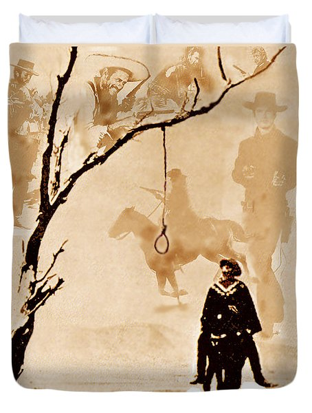 Duvet Cover featuring the digital art The Hangman's Tree by Seth Weaver
