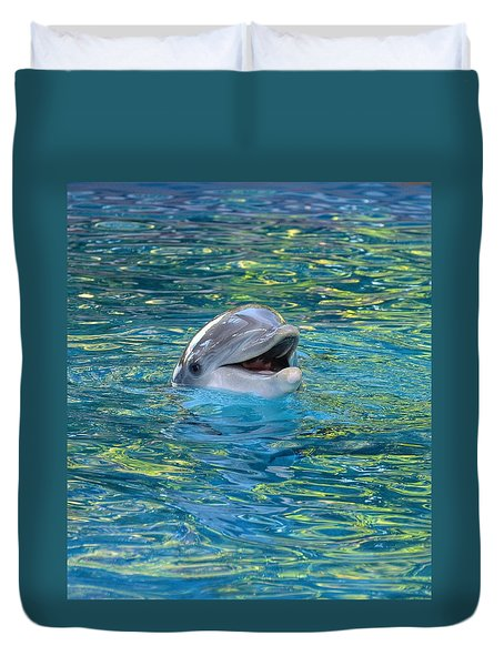 The Happy Dolphin Duvet Cover