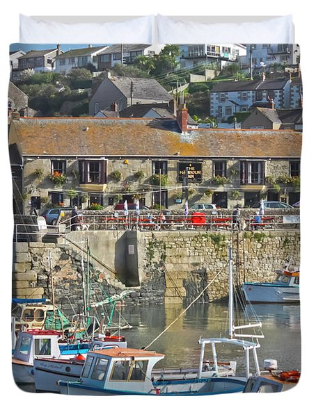 The Harbour Inn Porthleven Duvet Cover