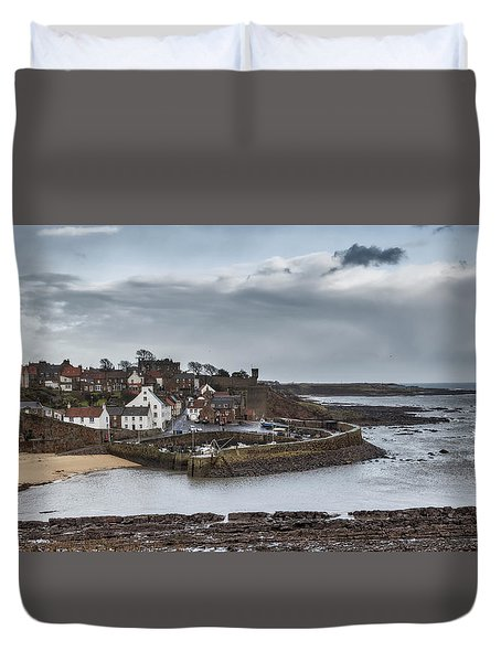 The Harbour Of Crail Duvet Cover